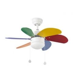 Ventilador de techo de colores