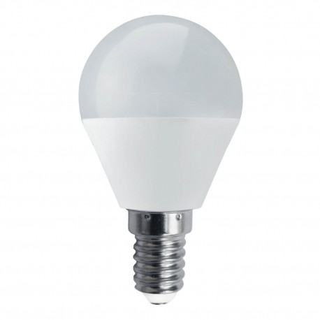 BOMBILLA LED Esférica E14, 5W, 4000K luz neutra