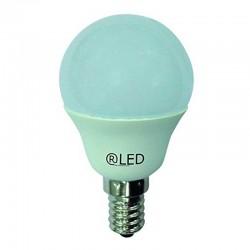 BOMBILLA LED Esférica E14, 6W, 2700K luz cálida