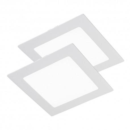 Downlight de Led 18W de empotrar, cuadrado blanco 6000K luz blanca