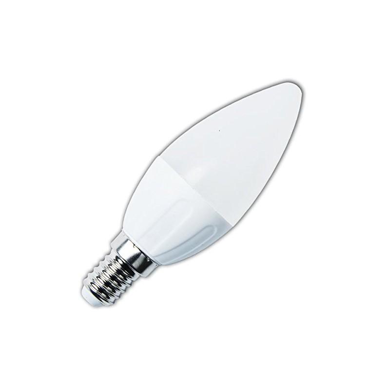 Bombilla vela de led 3w de potencia e14 3000k luz c lida for Bombillas led de vela