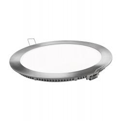 Downlight de Led 18w de empotrar, redondo plata 6000k luz blanca