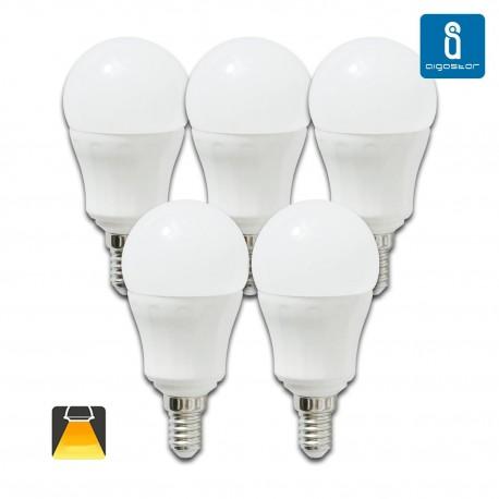 BOMBILLA LED Esférica E14, 7W, 3000K luz blanca cálida
