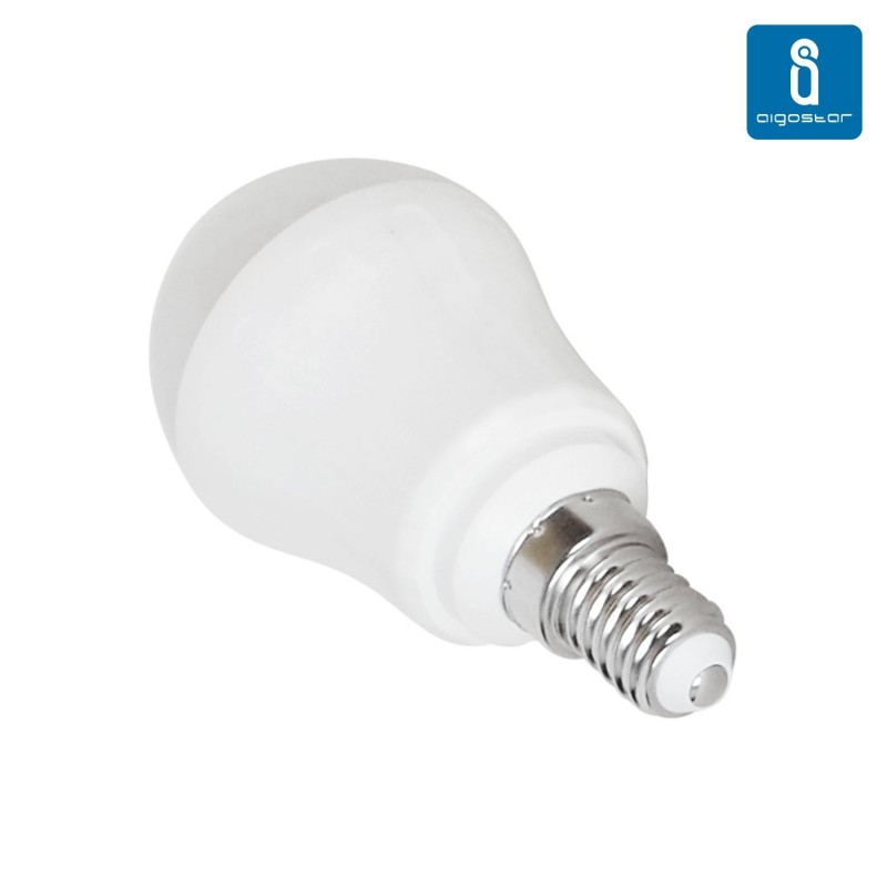 Bombilla esf rica de led e14 7w 6000k luz blanca for Bombillas led de 7w