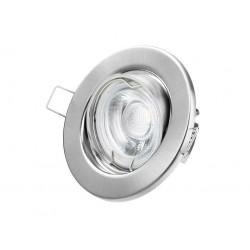 Aro empotrable acero satinado con bombilla de Led incluida de 3W 2800K luz cálida