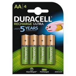Duracell HR06-P - Pack de 4 pilas recargable