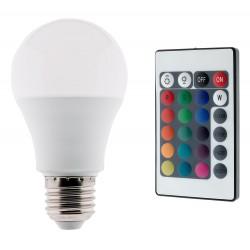 BOMBILLA LED RGB E27, 7.5W