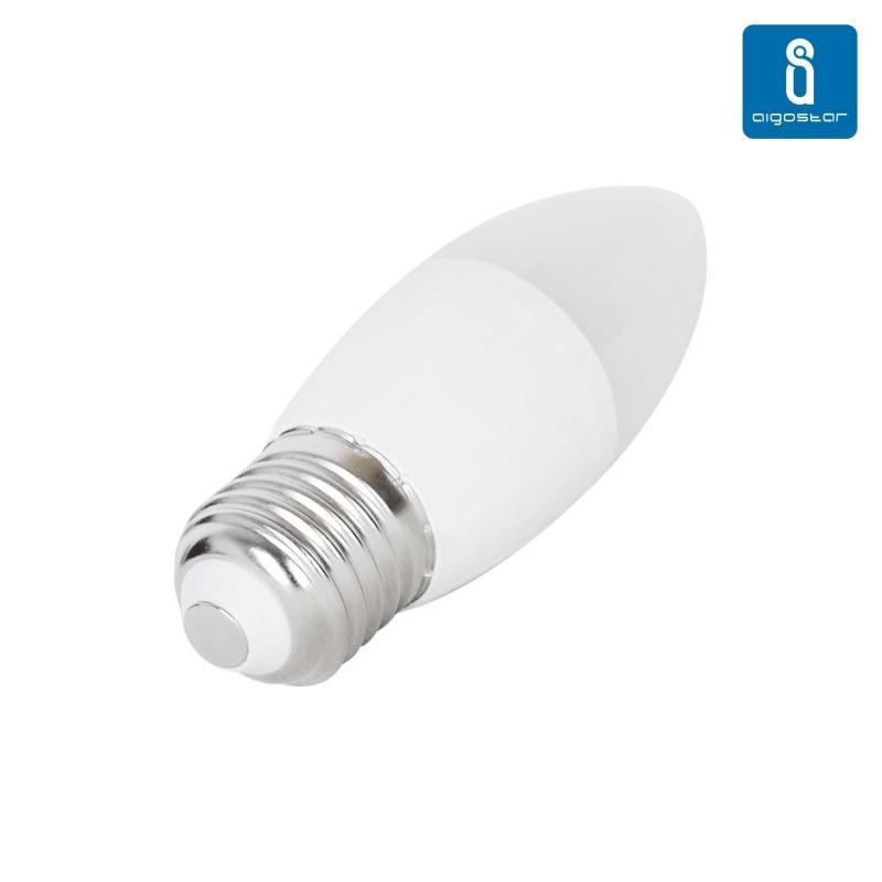 Bombilla vela de led e27 7w 6000k luz blanca for Bombillas led de vela