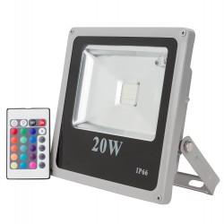 Proyector de led de 20W RGB Multicolor con mando