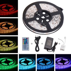 TOPLUS 5m Tira LED RGB 300 x 5050 SMD IP65 Impermeable