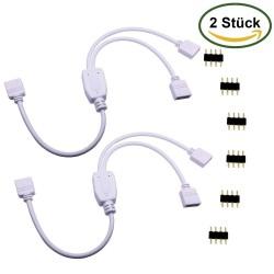 LitaElek Cable Divisor LED de 4 pines Conector, Divisor de 2 Vías Y Splitter Para SMD